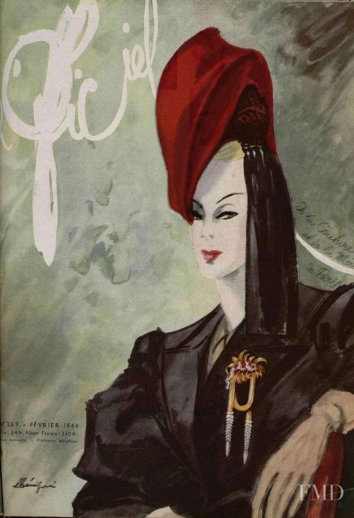 featured on the L\'Officiel France cover from February 1944