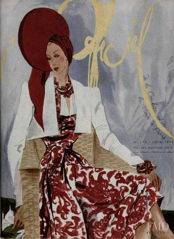 featured on the L\'Officiel France cover from June 1944