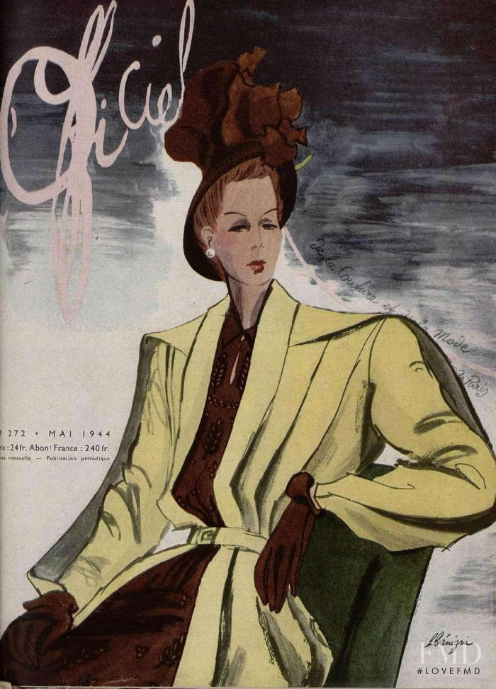 featured on the L\'Officiel France cover from May 1944