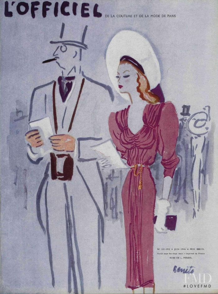 featured on the L\'Officiel France cover from June 1946