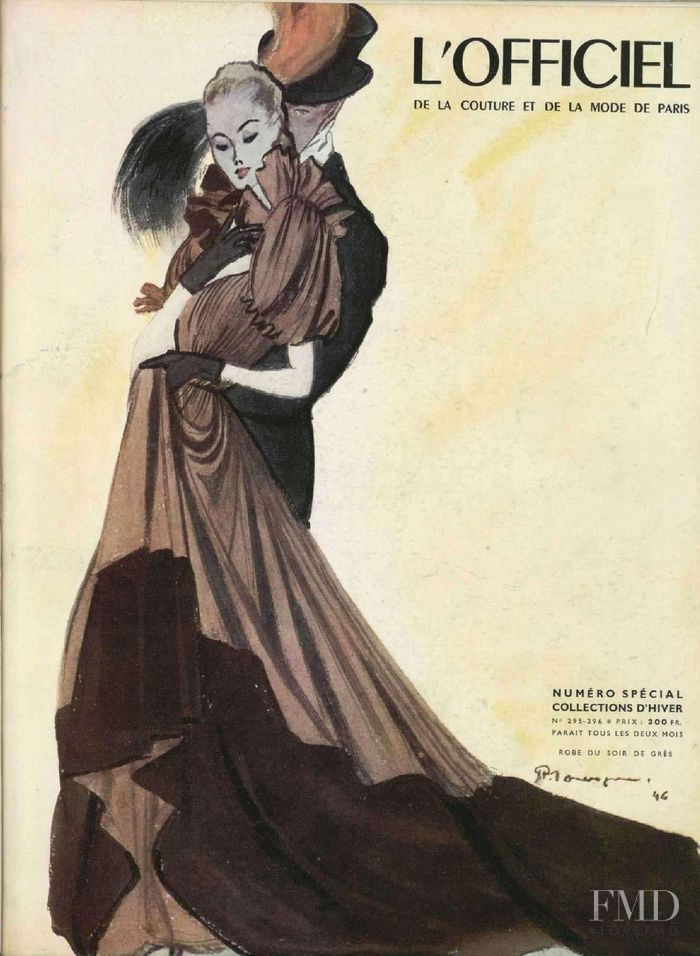 featured on the L\'Officiel France cover from October 1946
