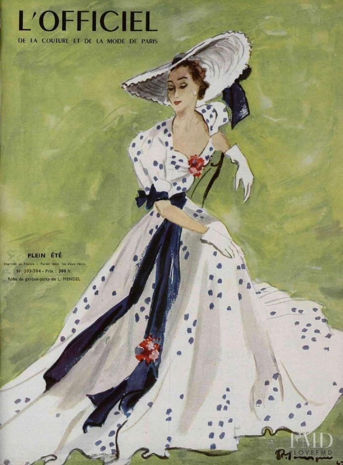 featured on the L\'Officiel France cover from May 1947