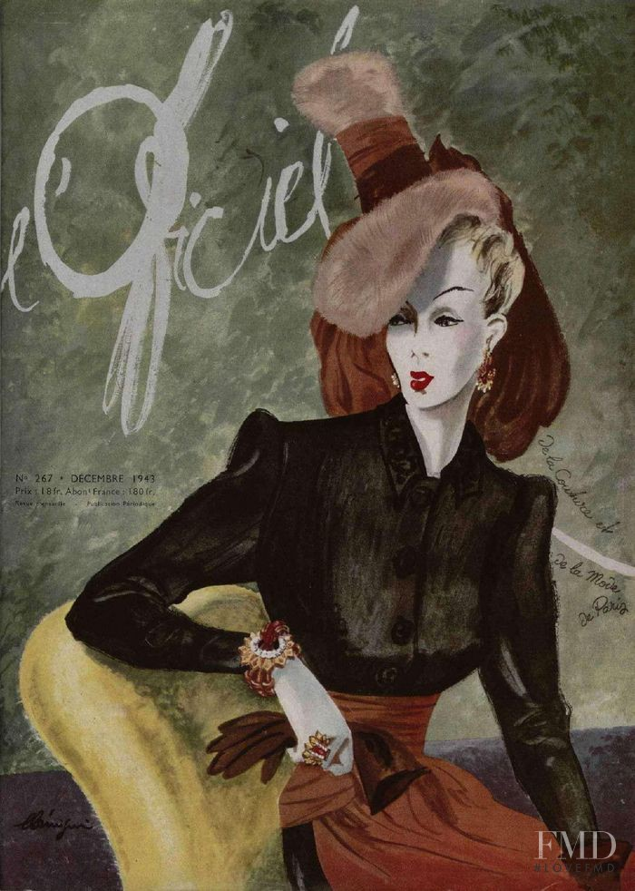 featured on the L\'Officiel France cover from December 1948