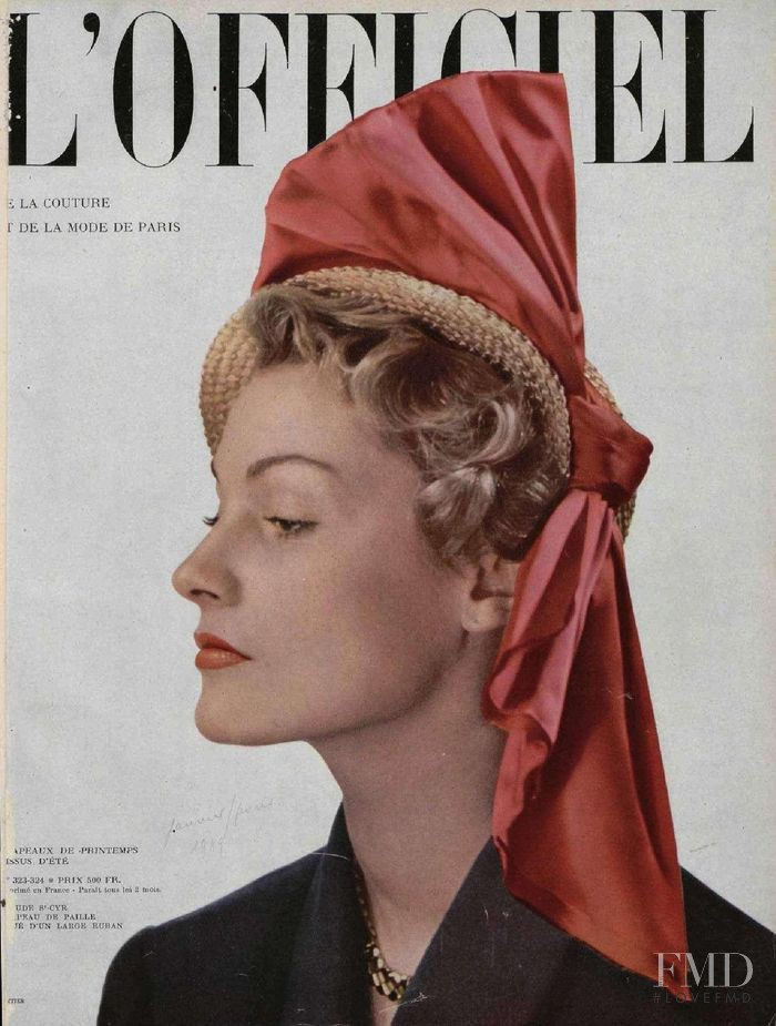 featured on the L\'Officiel France cover from January 1949