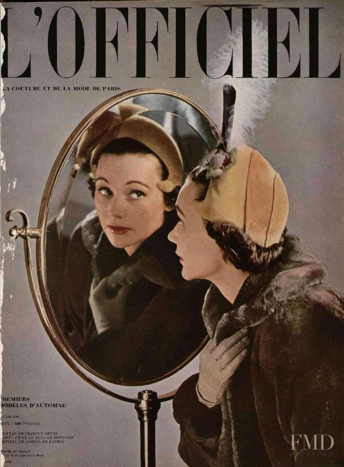 featured on the L\'Officiel France cover from July 1949