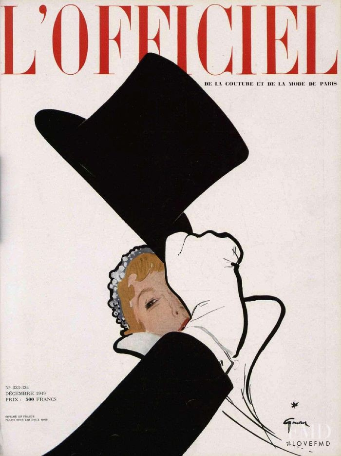 featured on the L\'Officiel France cover from November 1949