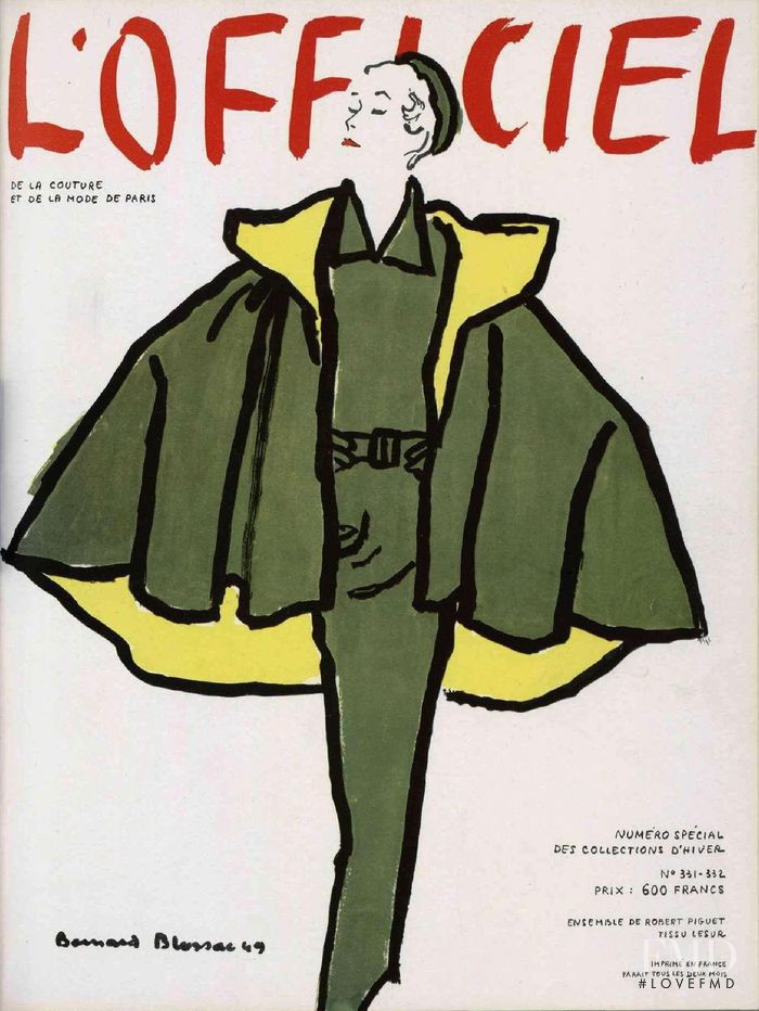 featured on the L\'Officiel France cover from September 1949