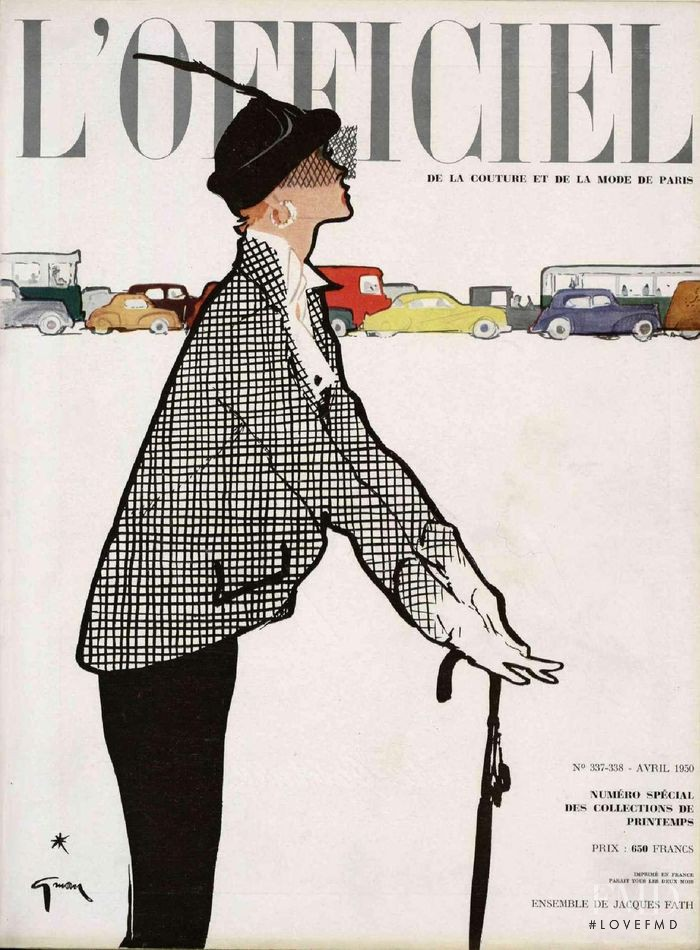 featured on the L\'Officiel France cover from April 1950