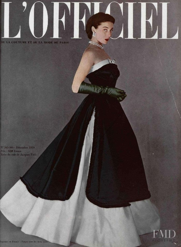 featured on the L\'Officiel France cover from December 1950