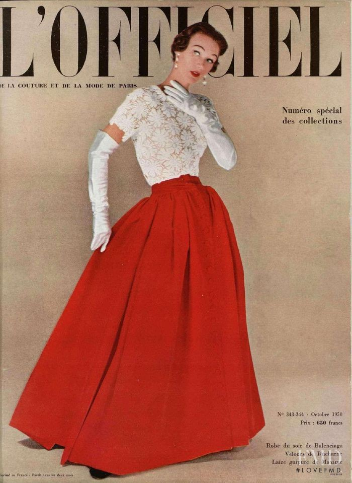 featured on the L\'Officiel France cover from October 1950