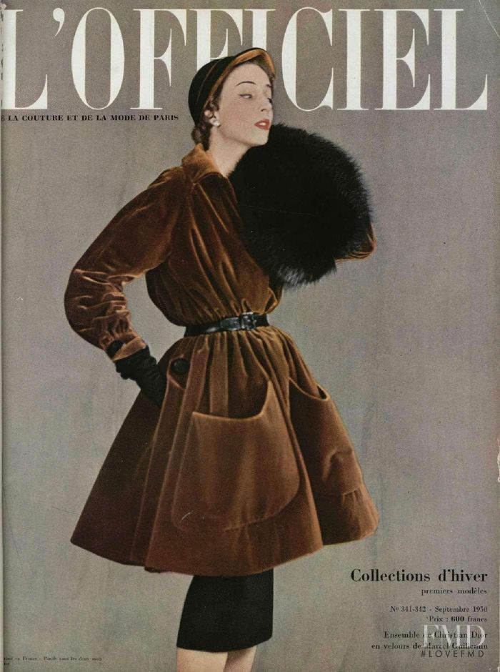 featured on the L\'Officiel France cover from September 1950
