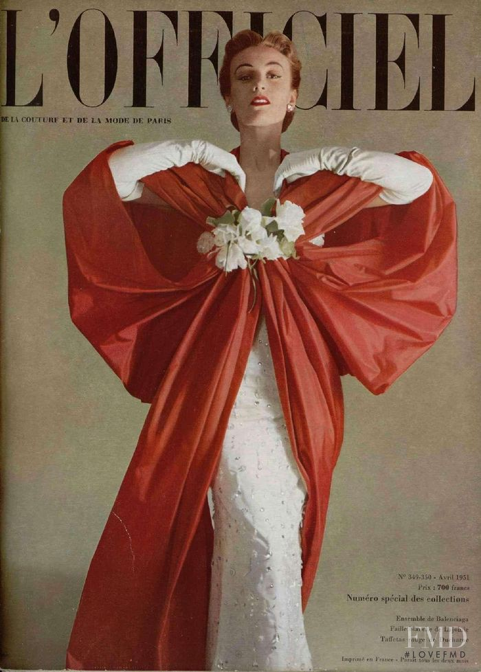 featured on the L\'Officiel France cover from April 1951