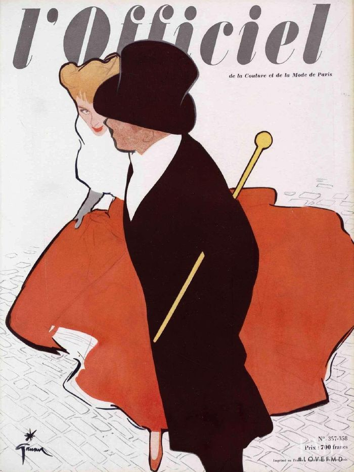 featured on the L\'Officiel France cover from December 1951