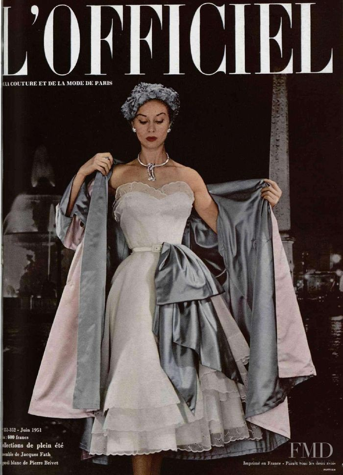 featured on the L\'Officiel France cover from June 1951