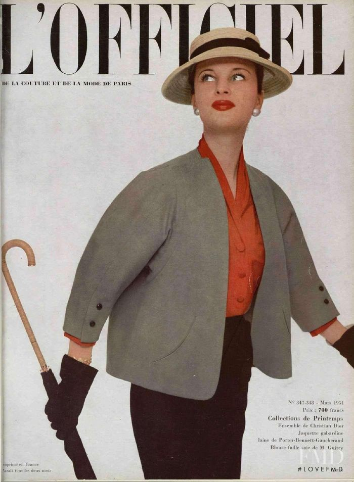 featured on the L\'Officiel France cover from March 1951