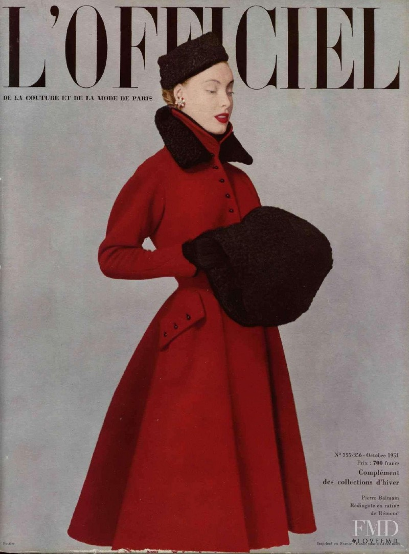 featured on the L\'Officiel France cover from October 1951