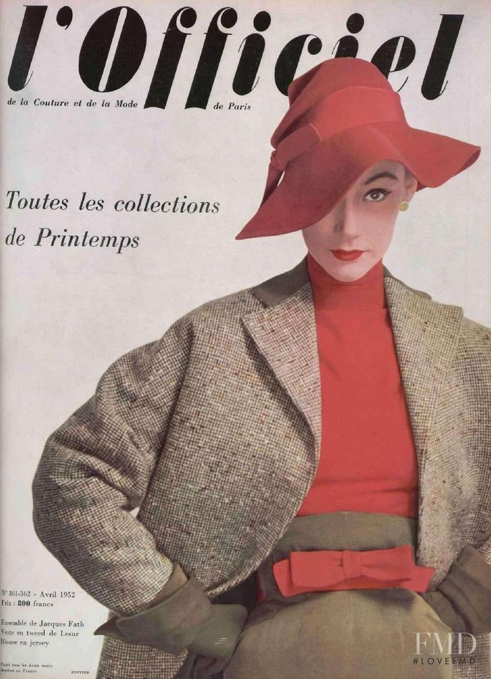 featured on the L\'Officiel France cover from April 1952