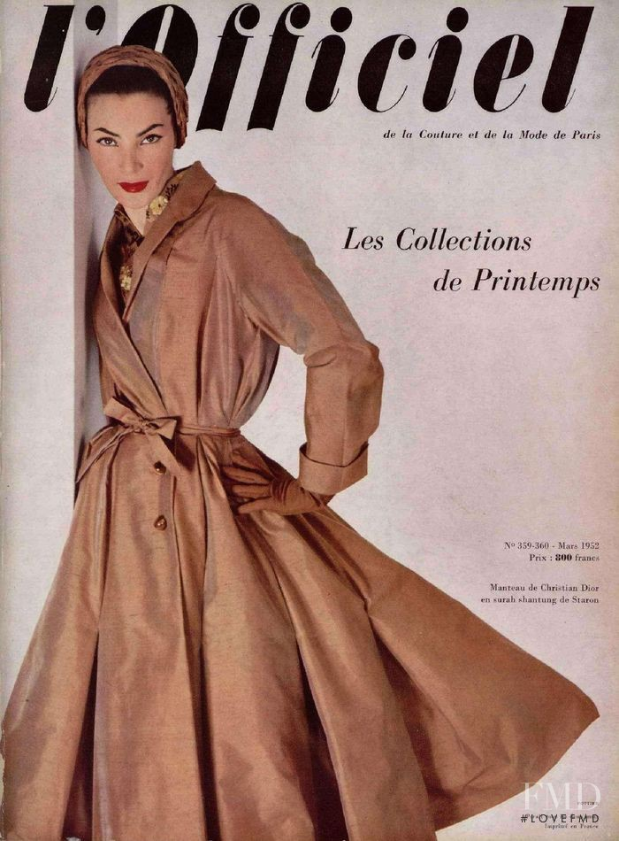 featured on the L\'Officiel France cover from March 1952
