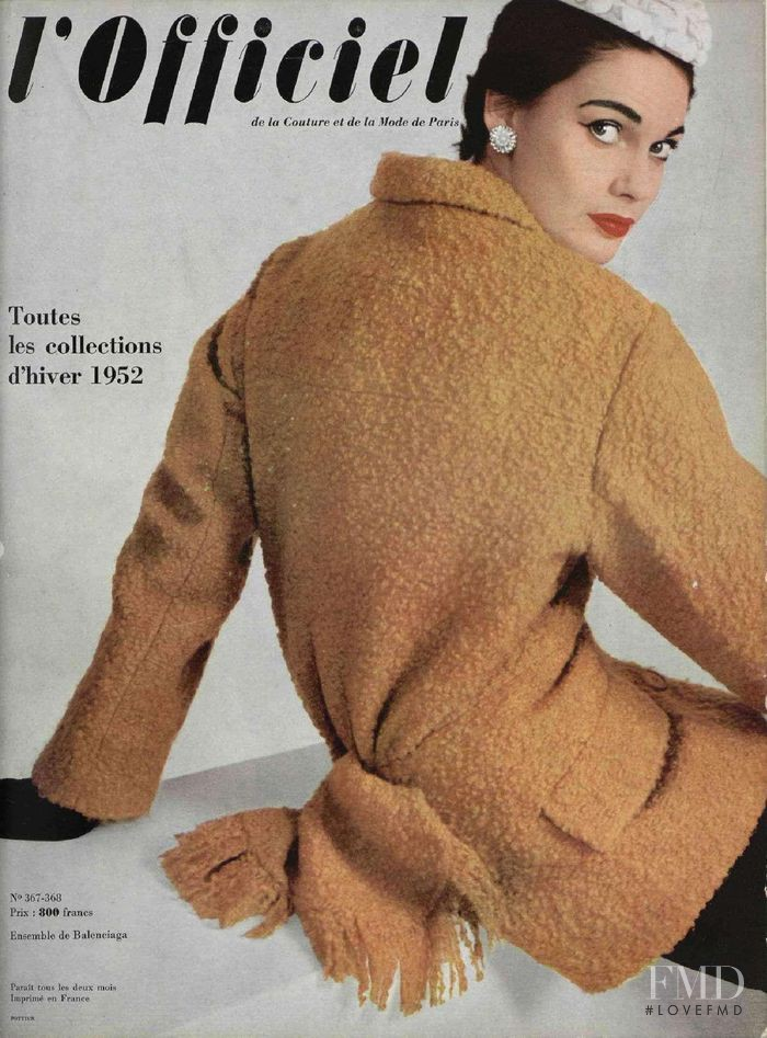 featured on the L\'Officiel France cover from October 1952