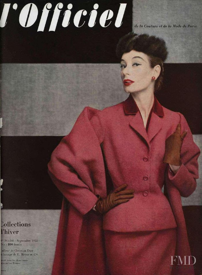 featured on the L\'Officiel France cover from September 1952