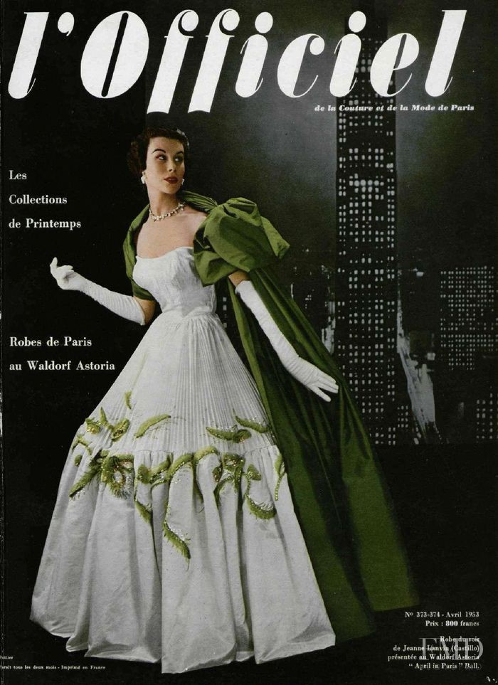 featured on the L\'Officiel France cover from April 1953