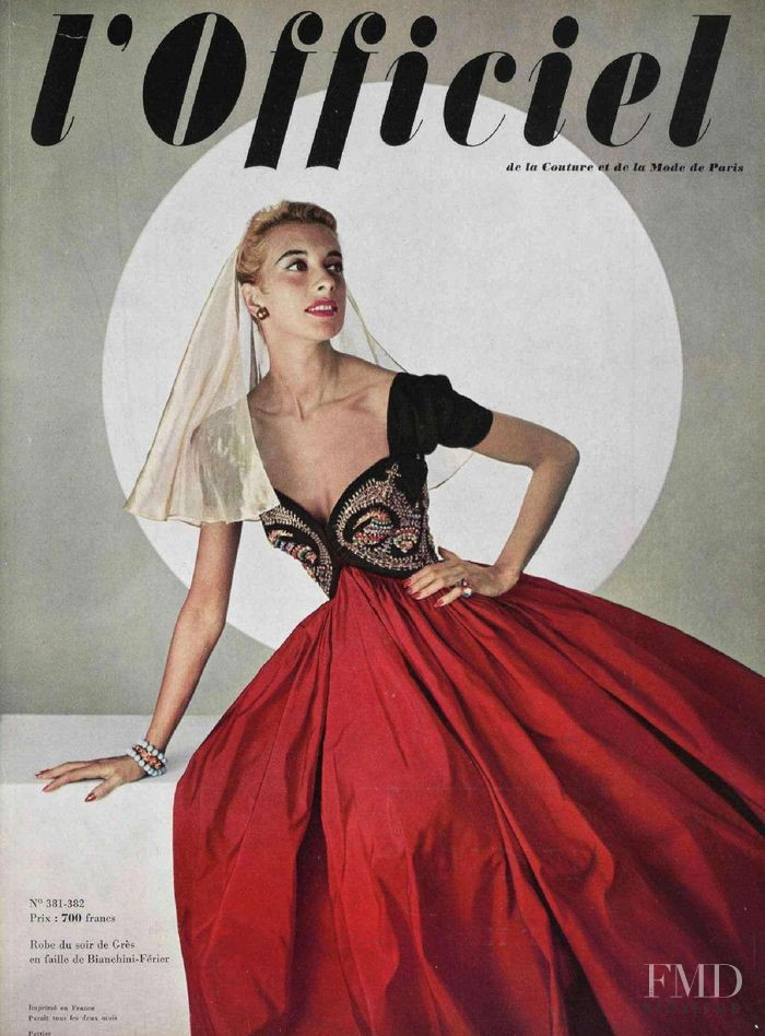 featured on the L\'Officiel France cover from December 1953