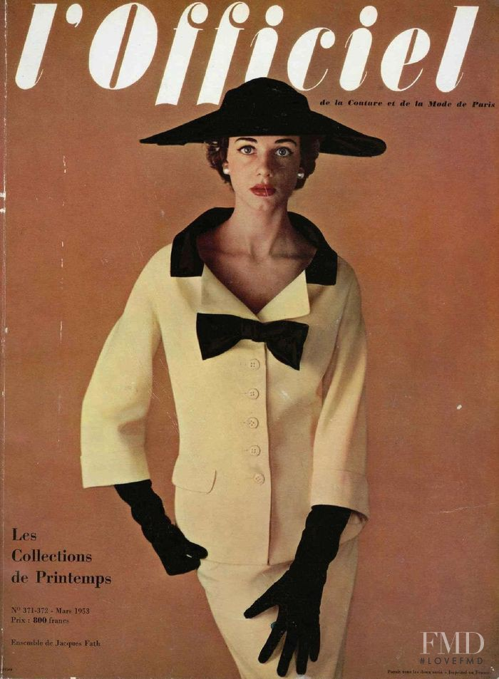 featured on the L\'Officiel France cover from March 1953
