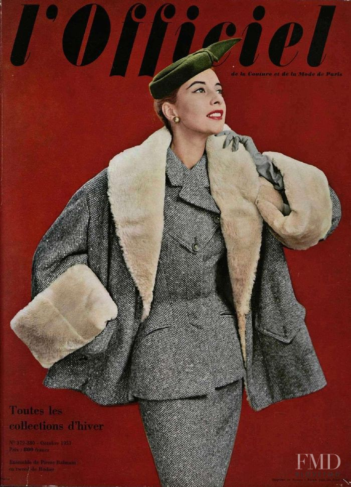 featured on the L\'Officiel France cover from October 1953