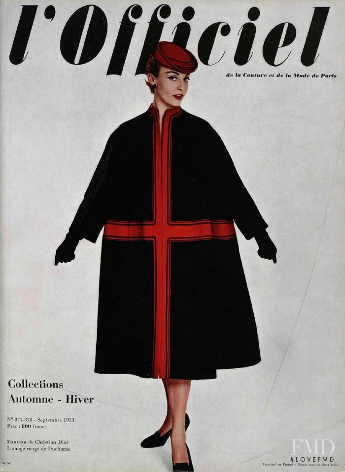 featured on the L\'Officiel France cover from September 1953