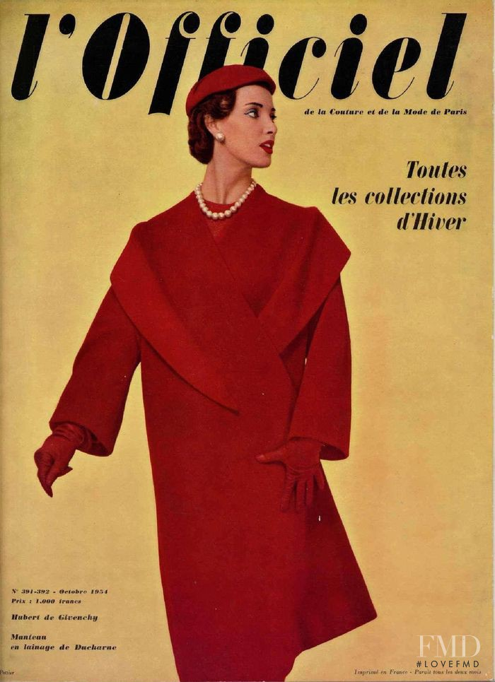 featured on the L\'Officiel France cover from October 1954