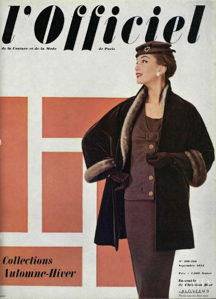 featured on the L\'Officiel France cover from September 1954