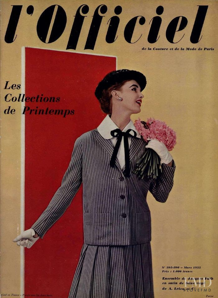 featured on the L\'Officiel France cover from March 1955