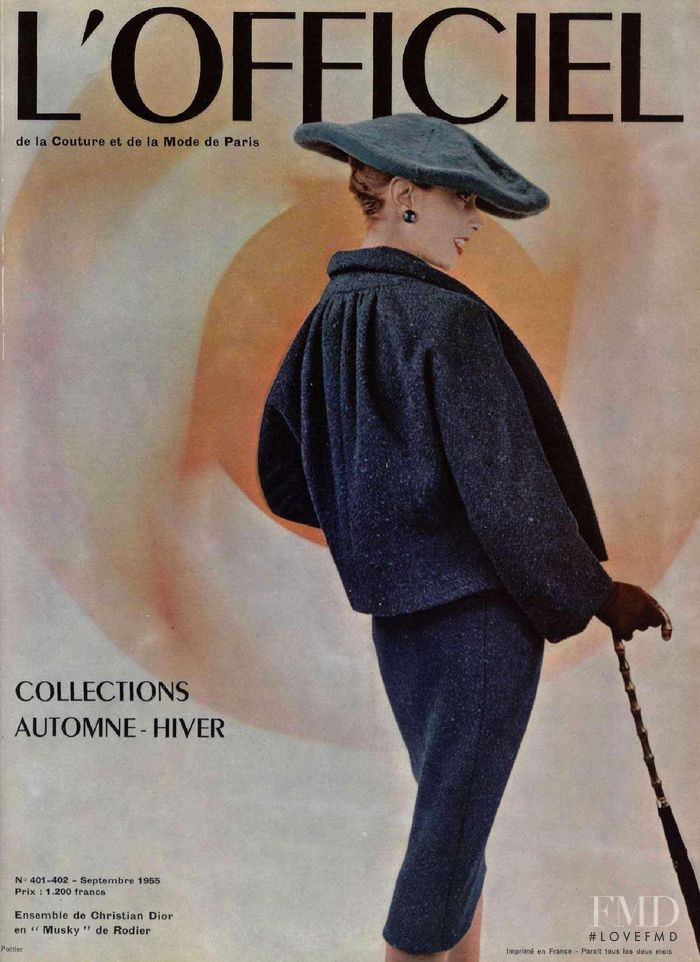 featured on the L\'Officiel France cover from September 1955