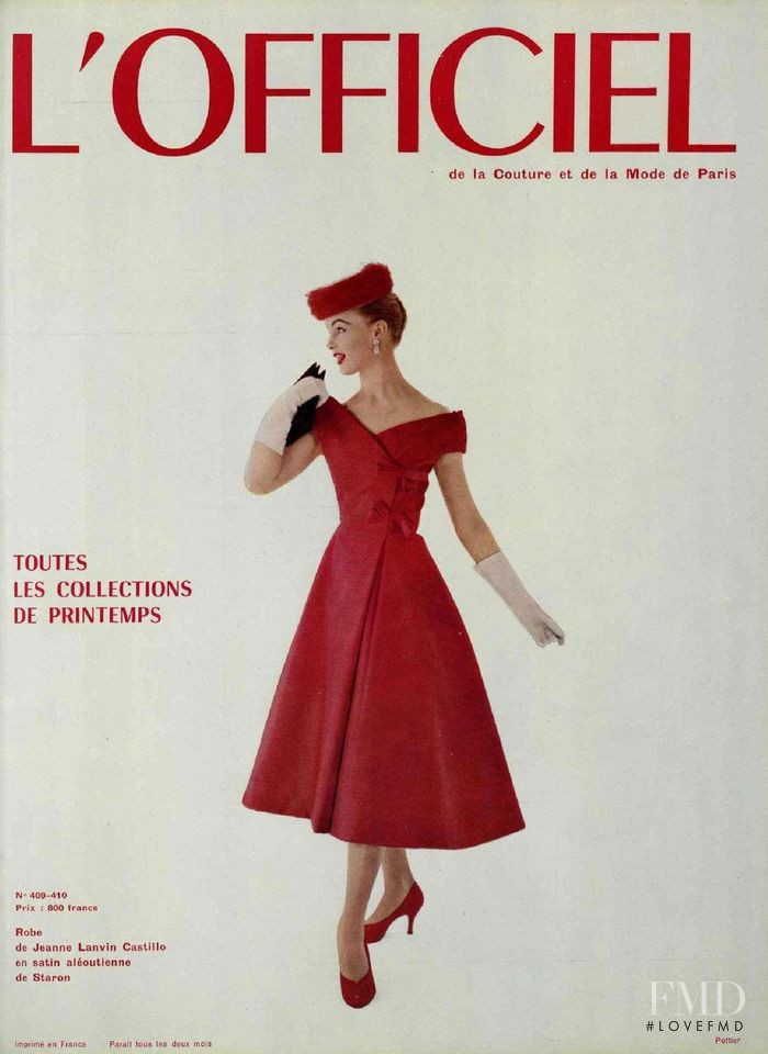 featured on the L\'Officiel France cover from April 1956