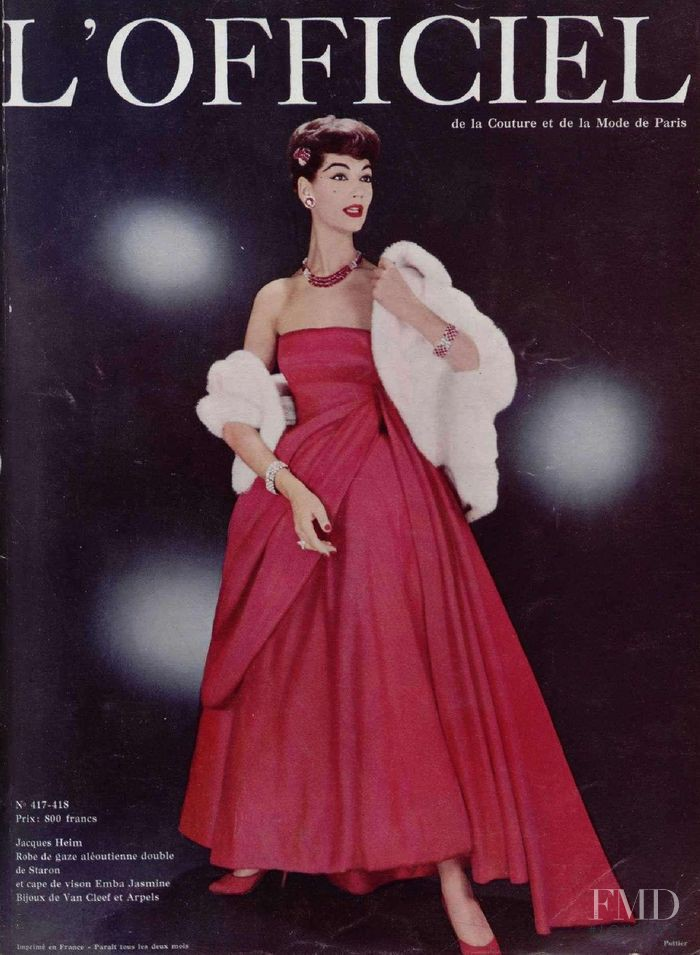featured on the L\'Officiel France cover from December 1956