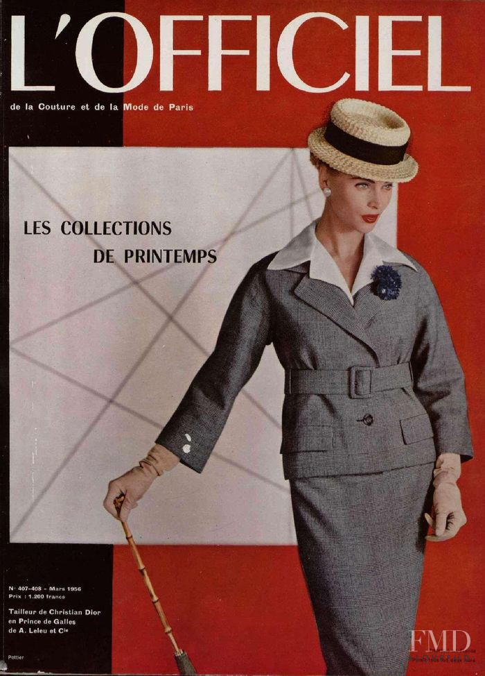 featured on the L\'Officiel France cover from March 1956