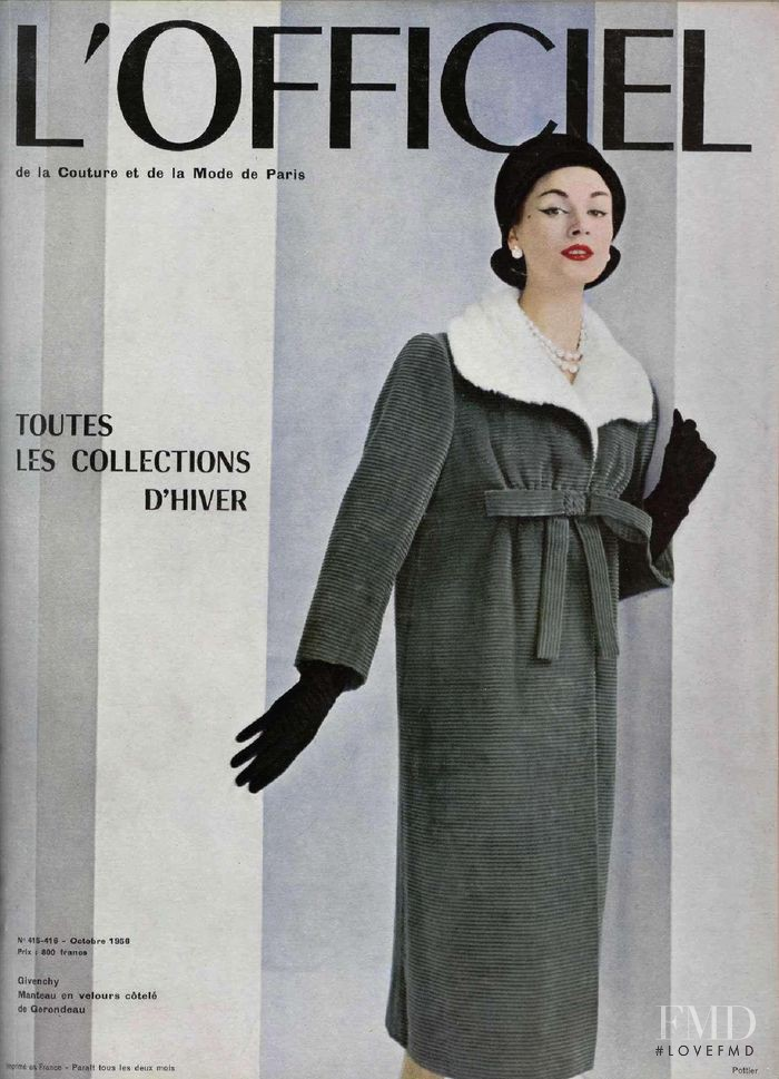 featured on the L\'Officiel France cover from October 1956