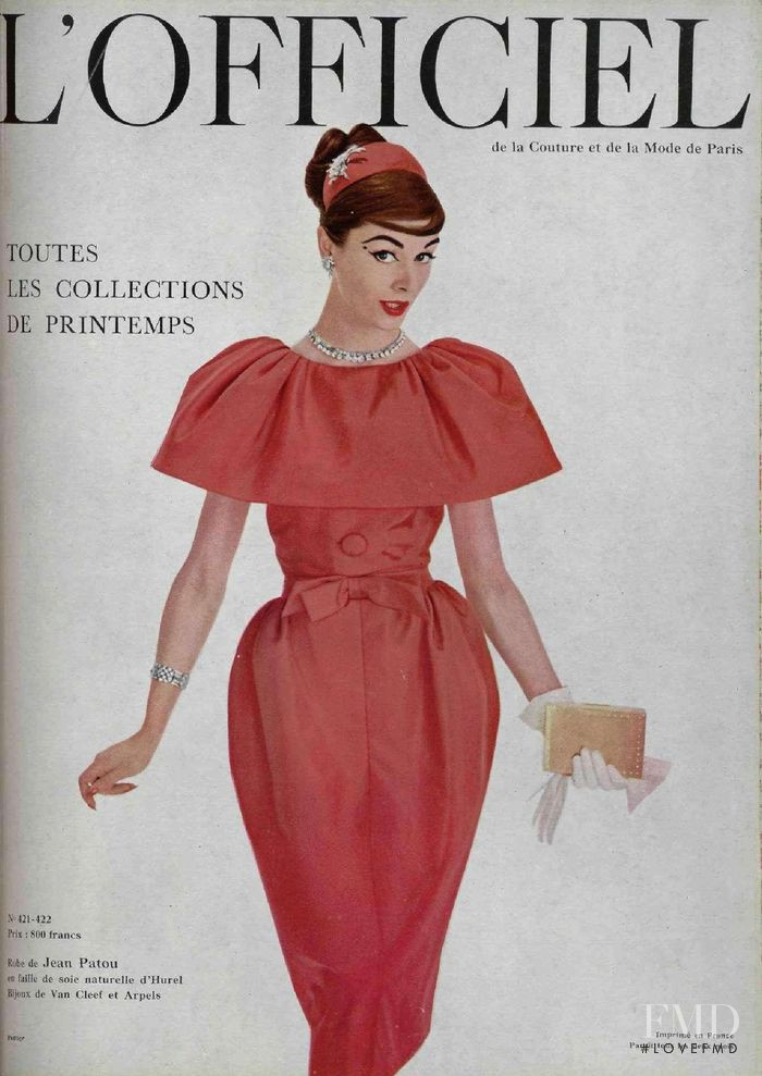 featured on the L\'Officiel France cover from April 1957