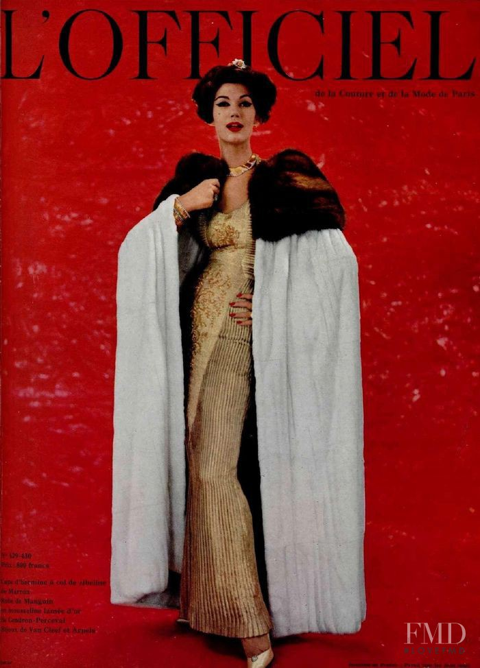 featured on the L\'Officiel France cover from December 1957