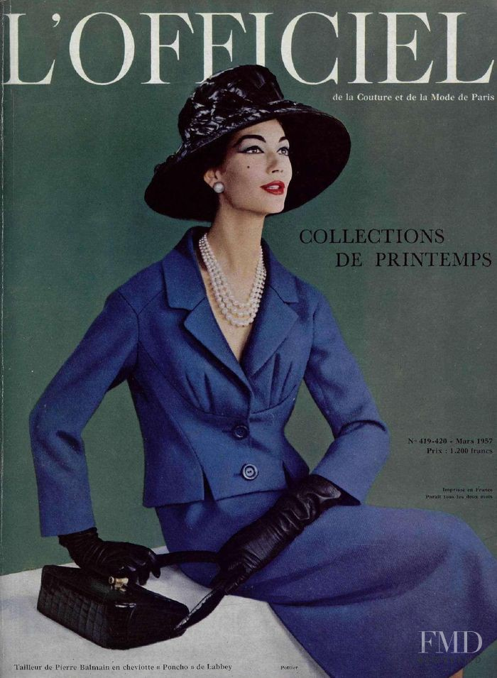 featured on the L\'Officiel France cover from March 1957