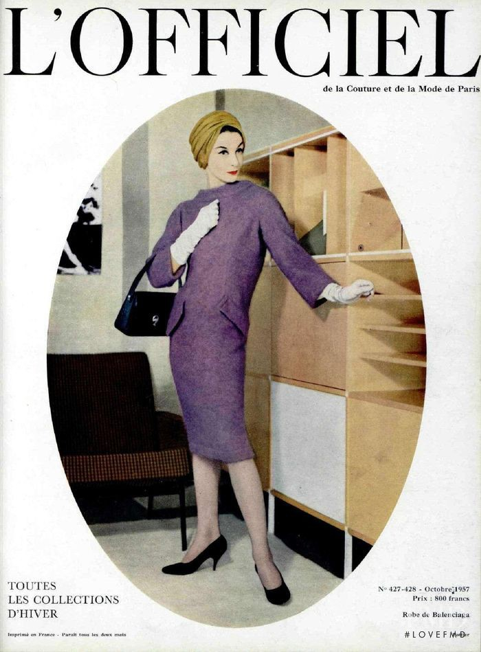 featured on the L\'Officiel France cover from October 1957