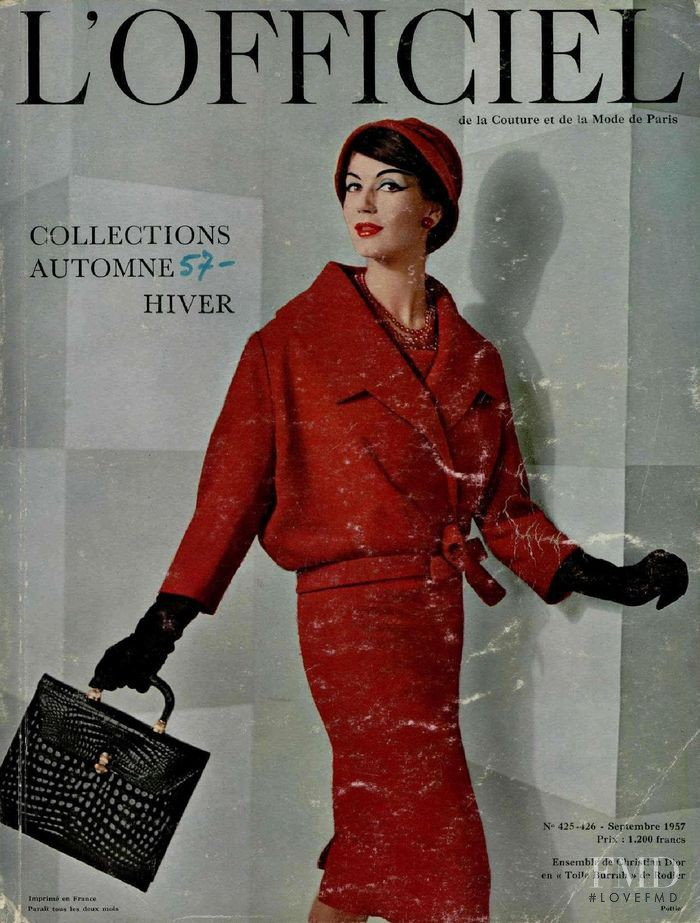 featured on the L\'Officiel France cover from September 1957