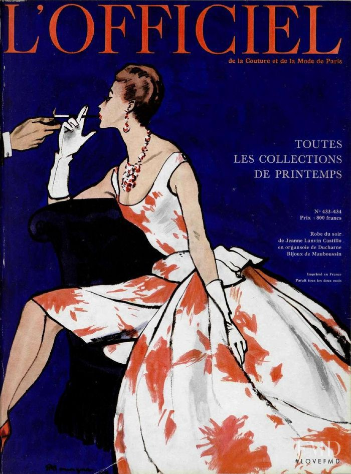 featured on the L\'Officiel France cover from April 1958