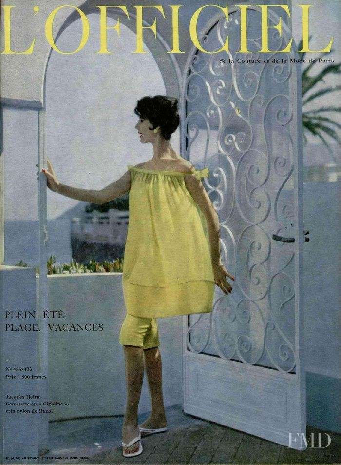 featured on the L\'Officiel France cover from June 1958