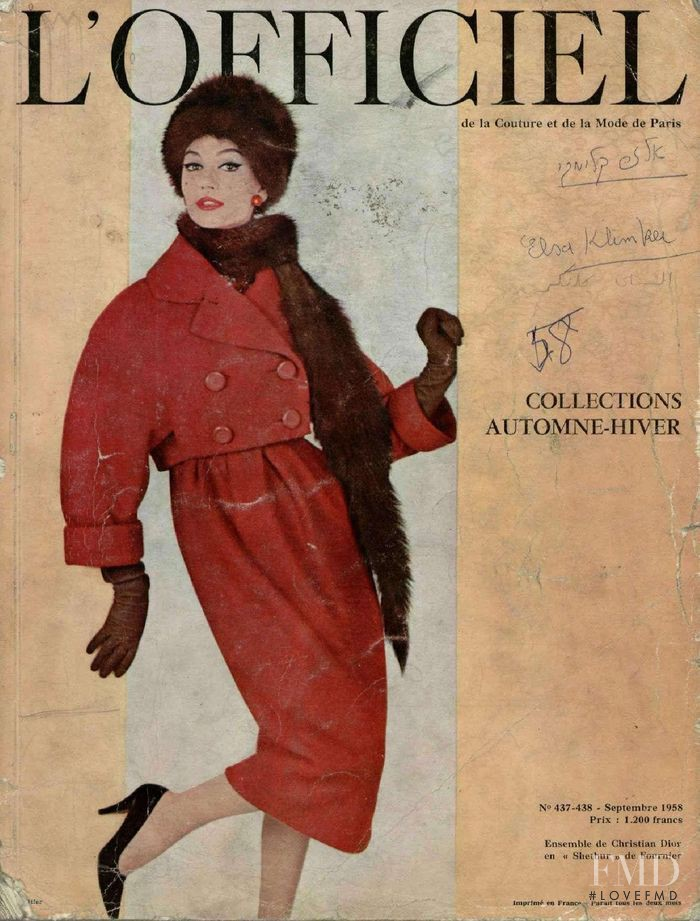 featured on the L\'Officiel France cover from September 1958