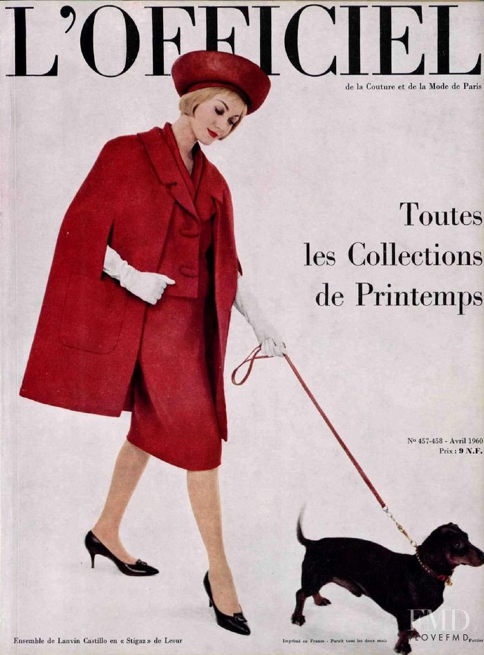 featured on the L\'Officiel France cover from April 1960