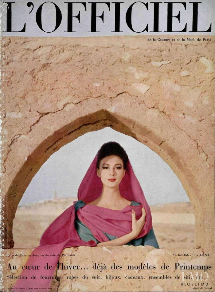 featured on the L\'Officiel France cover from December 1960
