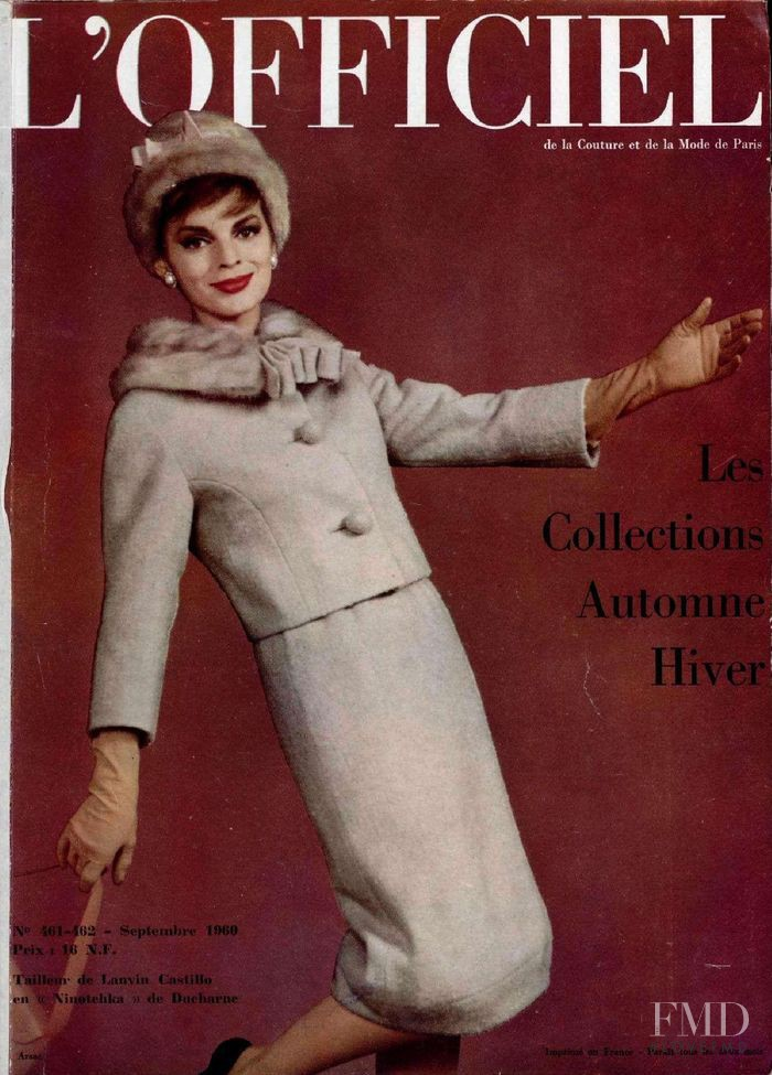 featured on the L\'Officiel France cover from September 1960