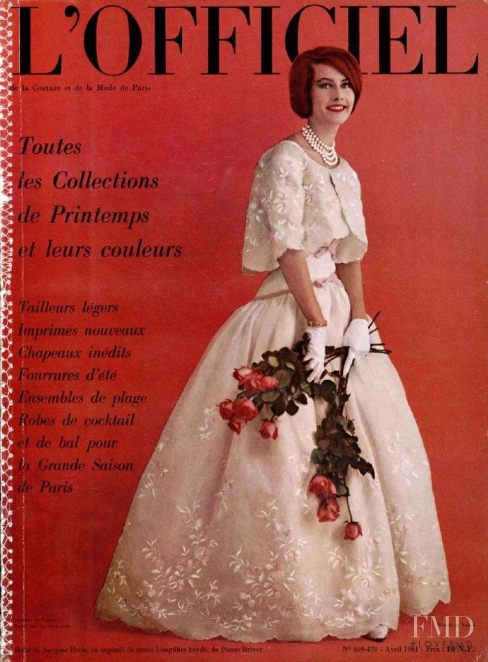 featured on the L\'Officiel France cover from April 1961
