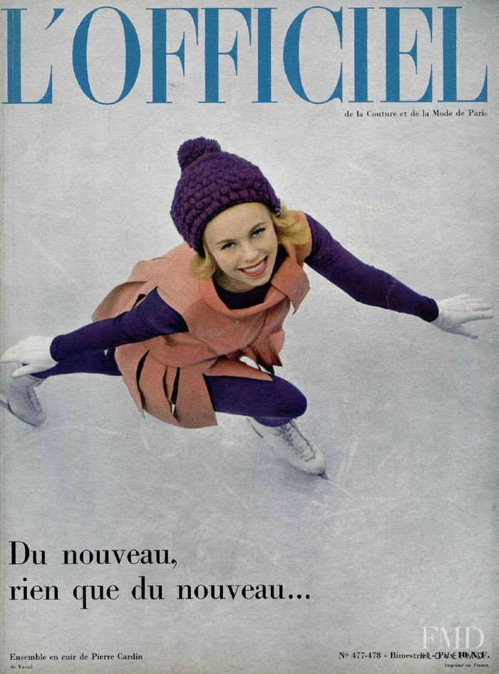 featured on the L\'Officiel France cover from December 1961